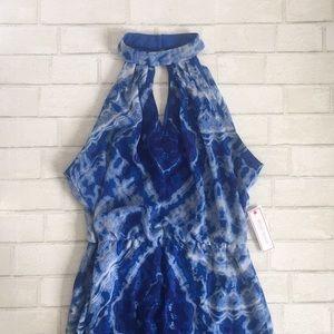 New bisou bisou blue maxi dress